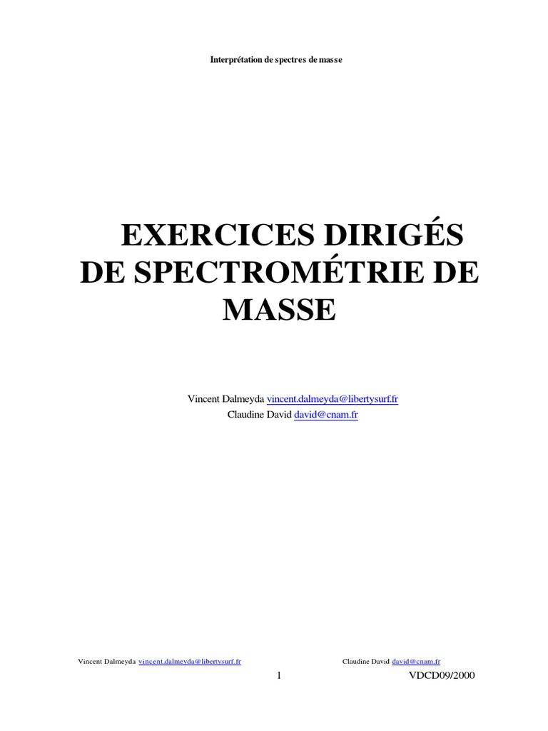 Interpretation Ms Pdf Spectrometrie De Masse Liaison Chimique