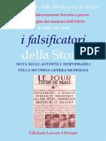 I falsificatori della Storia -  Note sugli autentici responsabili della seconda guerra mondiale