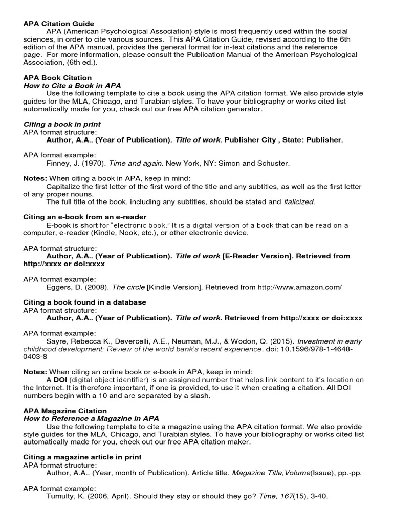 apa citation guide apa style citation