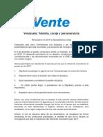 Comunicado Vente Venezuela