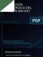 Patología Quirúrgica Del Recién Nacido