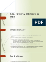 Presentation on Men & Intimacy