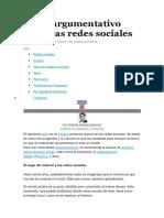 Texto Argumentativo Sobre Las Redes Sociales