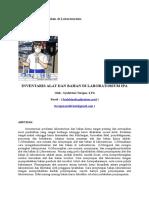 Inventaris Alat Dan Bahan Di Laboratorium