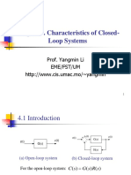Chapter 4 Characteristics of Closed-Loop Systems
