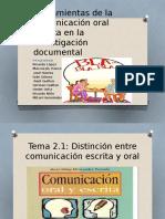 Herramientas de La Comunicación Oral Escrita en La