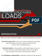 1_Introduction to Structural Analysis, Types of Structures and Loads