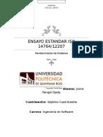 Ensayo Estándar ISO 14764/12207