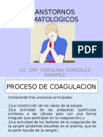 TRANSTORNOS HEMATOLOGICOS