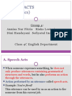 Speech Acts (Pragmatics)