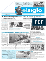 Edición Impresa Elsiglo 23-09-2016