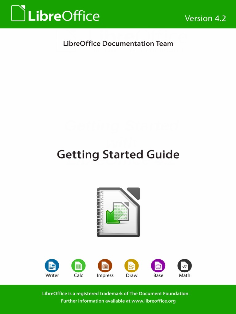 LibreOffice Getting Started   Operating System   Icon