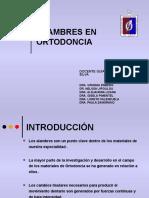 Alambres en Ortodoncia