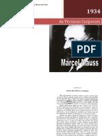 Livro - Antropologia II - As Técnicas Corporais - Marcel Mauss
