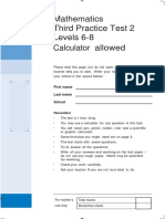 3rd Practice Test 2 Level 6-8 - With Calculator