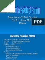 Anatomi & Fisiologi Faring, Faringitis Akut & Kronis.ppt
