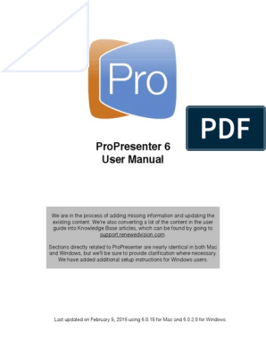 Propresenter Cloud Login