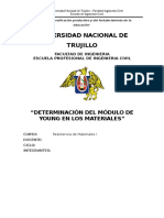 informe N°2; determinación del E de los materiales