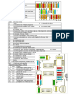 Citroen Xsara - raspored osigurača