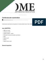 Oxfordmedicaleducation.com Cardiovascular Examination