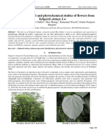 Engineering journal ; Pharmacognostical and phytochemical studies of flowers from Talipariti elatum S.w