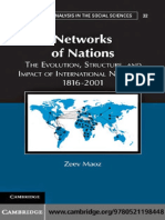 (Structural Analysis in the Social Sciences)Zeev Maoz-Networks of Nations the Evolution, Structure, And Impact of Internationa (1)