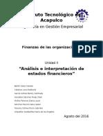 Finanzas organizacionales Unidad 2