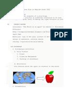 Lesson Plan in English Grade VIII