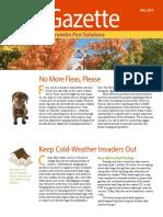 Franklin Pest Fall 2016 Pest Gazette