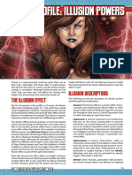 Mutants & Masterminds 3e - Power Profile - Illusion Powers