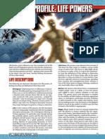 Mutants & Masterminds 3e - Power Profile - Life Powers