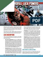 Mutants & Masterminds 3e - Power Profile - Luck Powers