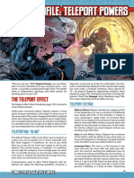 Mutants & Masterminds 3e - Power Profile - Teleport Powers