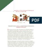 Federico González_ Persistencia de La Identidad Indígena