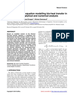 Modifed Pennes' Equation Modelling Bio-heat Transfer in Living Tissues- Analytical and Numerical Analysis
