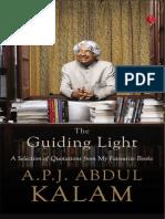 The Guiding Light_ a Selection - A.p.j. Abdul Kalam
