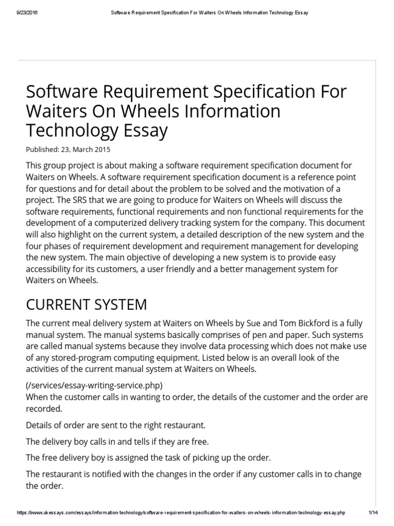 education management system software requirements specification
