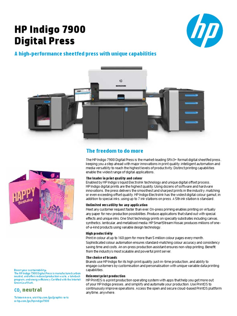 HP Indigo 7900 Digital Press | Automation | Printmaking