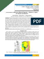 """Geochemical Analyses in Mineral Deposits """" Çikatova e Vjeter"""" in Drenas Area-Kosovo"""