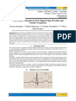 Abnormality Detection in ECG Signal Using Wavelets and Fourier Transform