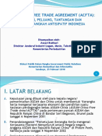 Presentasi Dirjen ILMTA for  ACFTA