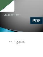 t Test Chi-square Test