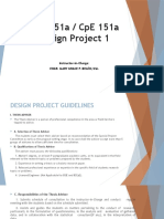 Design Project 1 Lectures