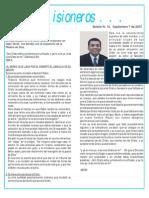 Boletin 15 - Septiembre 7 de 2007 - devocional hno. Silvio Solarte - Noticias de Venezuela