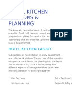 Hotel Kitchen Sections