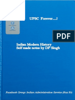 Self Made Modern History Notes ( UPSC Topper's DP Singh)