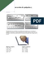 Tablas de Conversión de Pulgadas y Milímetros