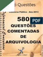 580 Questões Comentadas de Arquivologia