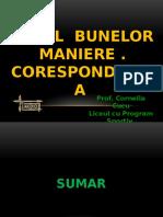 Codul Bunelor Maniere. Corespondenta