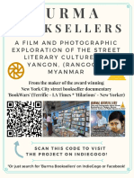 'BURMA BOOKSELLERS' - Printable Mini-Poster for our IndieGogo Video & Photo Documentary Project
